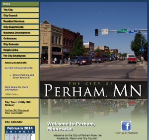 The City of Perham, MN website